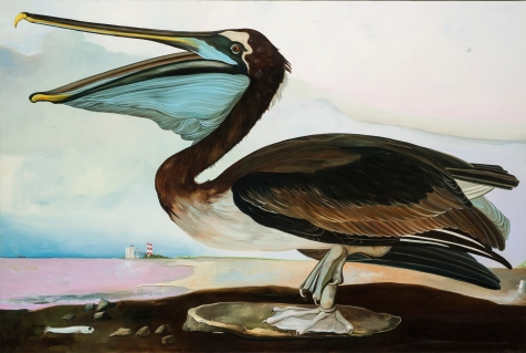 Thomas Frontini. Brown Pelican. Birds of America: Explorations of Audubon: The Paintings of Larry Rivers and Others. Photo Courtesy of 101/Exhibit.