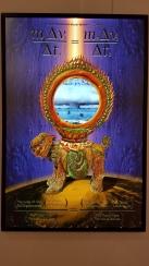 Kazmier Maslanka. Newton's Third Law in Karmic Warfare. Light box. Parallels: Medicine = Art. Crafton Hills College Art: Eyes on Healing. Crafton Hills College Art Gallery. Photo Credit Jacqueline Bell Johnson.