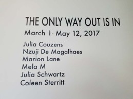 The Only Way Out Is In. Citrus College Art Gallery. Photo Credit Jackie Bell Johnson