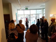 Bibi Davidson. Personal Narrative. Artist Talk. Annenberg Community Beach House Gallery. Photo Credit Kristine Schomaker.
