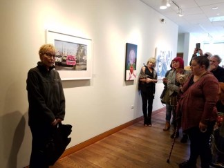 JJ L'Heureux. Personal Narrative. Artist Talk. Annenberg Community Beach House Gallery. Photo Credit Kristine Schomaker.