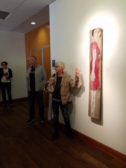 Malka Nedivi. Personal Narrative. Artist Talk. Annenberg Community Beach House Gallery. Photo Credit Kristine Schomaker.