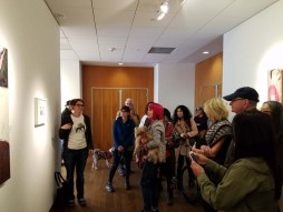 Erika Lizee. Personal Narrative. Artist Talk. Annenberg Community Beach House Gallery. Photo Credit Kristine Schomaker.