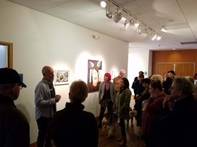 Rick Dallago. Personal Narrative. Artist Talk. Annenberg Community Beach House Gallery. Photo Credit Kristine Schomaker.