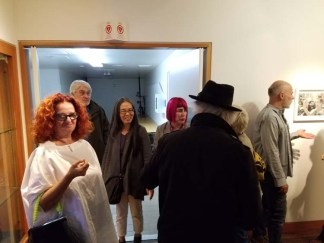 Personal Narrative. Artist Talk. Annenberg Community Beach House Gallery. Photo Credit Kristine Schomaker.