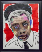 ICONIC: Black Panther. Gregorio Escalante Gallery, Los Angeles, CA. February James Baldwin 2017 Mixed media on paper. Photo Courtesy of Sepia Collective and The Artist.