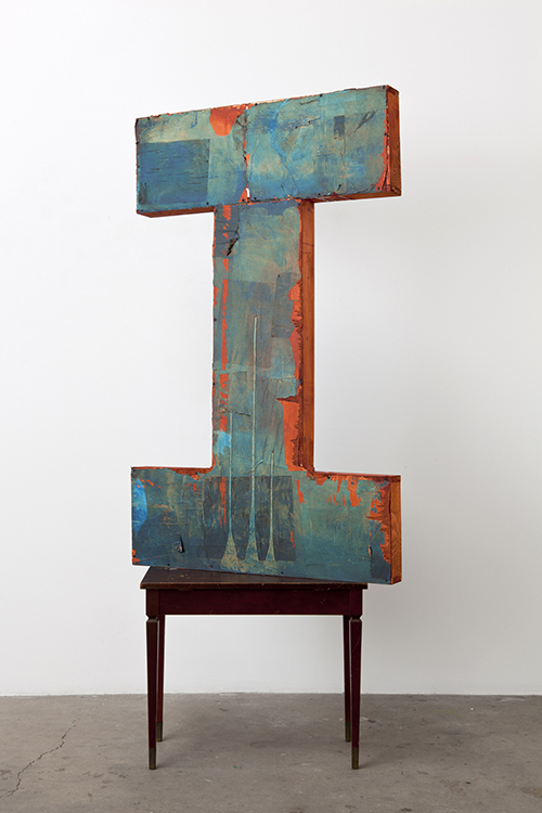 Brenna Youngblood I, 2011 Mixed media on panel and found piano bench 59 x 36 x 3 inches Courtesy of the Artist and Honor Fraser