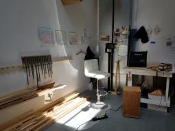 Chien Taichen. Claremont Graduate University MFA Open Studios. Photo Credit Jacqueline Bell Johnson.
