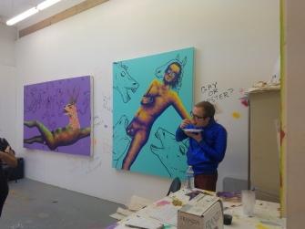Dakota Noot. Claremont Graduate University MFA Open Studios. Photo Credit Jacqueline Bell Johnson.