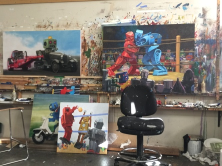 Eric Joyner: Tarsus Bondon Dot. Studio Image. Photo Courtesy of Cory Helford Gallery.