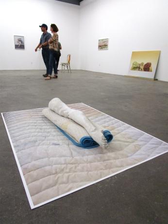 Heather Rasmussen - Untitled (Leg on blanket on blanket). ACME Gallery. Photo Credit Patrick Quinn.
