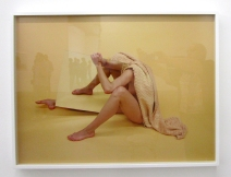 Heather Rasmussen - Untitled (Three legs and squash in mirror, ACME Gallery. Photo Credit Patrick Quinn. yellow).