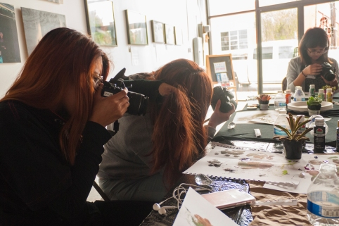 Carolina Ibarra-Mendoza. Madre Tierra Workshop. Animating the Archives: The Woman's Building. Avenue 50 Studios, Highland Park. Photo Courtesy of the Artist.