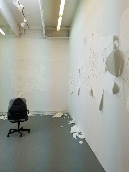 Letian William Luo. Claremont Graduate University MFA Open Studios. Photo Credit Jacqueline Bell Johnson.