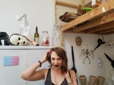 Neila Durrer. Claremont Graduate University MFA Open Studios. Photo Credit Jacqueline Bell Johnson.