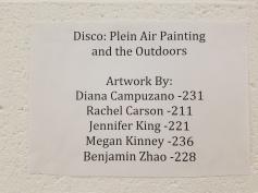 Plein Air Disco. Claremont Graduate University MFA Open Studios. Photo Credit Jacqueline Bell Johnson.