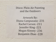 Plein Air Disco. Claremont Graduate University MFA Open Studios. Photo Credit Jacqueline Bell Johnson.