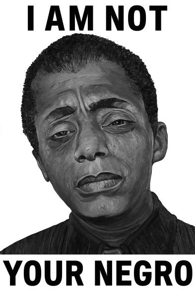 ICONIC: Black Panther. Gregorio Escalante Gallery, Los Angeles, CA. Robbie Conal James Baldwin 2017 Oil and acrylic on illustration board. Photo Courtesy of Sepia Collective and The Artist.