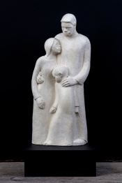 Samella Lewis The Family, 1947 Plaster 31.5 x 13.5 x 13.5 inches Clark Atlanta University Art Collection Photo: Joshua White/jwpictures.com