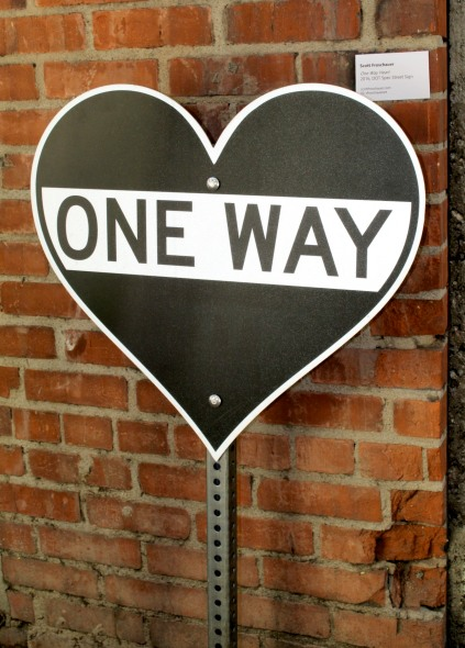 Scott Froschauer, One Way Heart ©2017 Brewery Art Walk, Photo credit- JulieFaith, All rights reserved