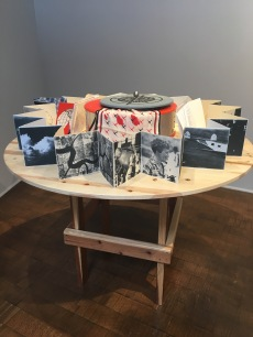 Chapters: Book Arts in Southern California. The Craft & Folk Art Museum. Vilma Mendillo and Laura Stickney. Amelia Redux 1937-2012. A Pilots Log, 2012. Photo Credit Amy Kaeser.