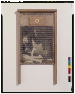 Betye Saar: Keeping it Clean. Craft and Folk Art Museum. Courtesy of the artist and Roberts & Tilton, Los Angeles, CA.