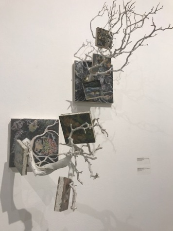 "Carolyn Buck Vosburgh. ""Crossing Boundaries"" Huntington Beach Art Center. Photo Credit Sydney Walters."