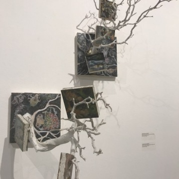 "Carolyn Buck Vosburgh. ""Crossing Boundaries"" Huntington Beach Art Center. Photo Credit Sydney Walters."