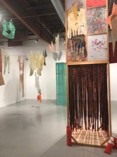 "Connie DK Lane. ""Crossing Boundaries"" Huntington Beach Art Center. Photo Credit Sydney Walters."