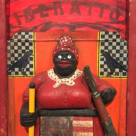 Betye Saar: Keeping it Clean. Craft and Folk Art Museum. Photo Credit Shana Nys Dambrot.