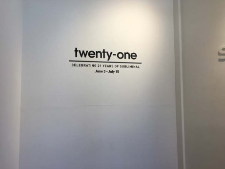 Twenty-One. Subliminal Projects. Photo Credit Evan Senn.