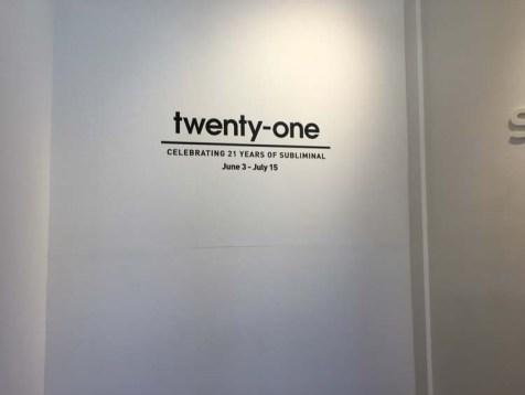 Twenty-One. Subliminal Projects. Photo Credit Evan Senn.