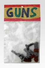 "Guns pipe cleaners 9"" x 6"" x 3"" 2006. Don Procella. Everything Must Go. Noysky Projects. Photo Courtesy of Noysky Projects."