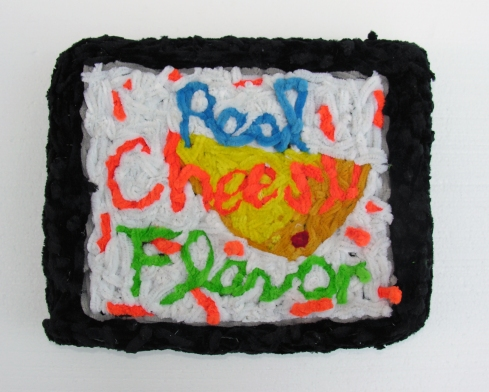 "Real Cheezy Flavor TV pipe cleaners 14"" x 11"" x 4"" 2006. Don Procella. Everything Must Go. Noysky Projects. Photo Courtesy of Noysky Projects."
