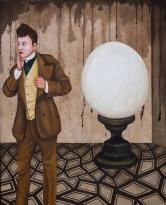 "Lezley Saar. Vesta the Johnny, 2015, acrylic on fabric on panel, 20"" x 16"", Courtesy of Walter Maciel Gallery. Photo Credit: August Agustsson."