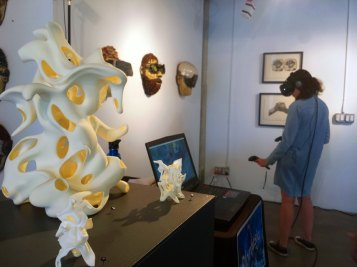 Kevin Mack. Everywhere but Nowhere, Virtual and Augmented Reality Art. District Gallery. Photo Credit Snow Mack.