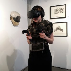 Zenka. Everywhere but Nowhere, Virtual and Augmented Reality Art. District Gallery. Photo Credit Snow Mack.