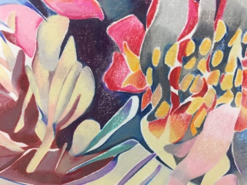 Sarah Ann Weber: Scenic View. Club Pro, Los Angeles. (Detail) Huntington in Winter-Colored pencil on Strathmore, 38 IN x 50 IN. Photo Credit Shana Nys Dambrot.