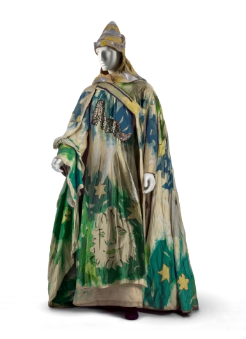 Costume for The Magic Flute: Sarastro, 1967, silk plain weave, painted, with silk plain weave and metallic appliqués, Metropolitan Opera Archives, New York, © 2017 Artists Rights Society (ARS), New York/ADAGP, Paris, photo © 2017 Museum Associates/LACMA