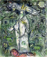 Marc Chagall, Variation on the Theme of The Magic Flute: Sarastro, 1965, gouache on paper, 24 3/16 × 19 7/8 in., private collection, © 2017 Artists Rights Society (ARS), New York/ADAGP, Paris, photo © 2017 Archives Marc et Ida Chagall, Paris
