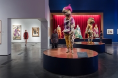 Installation photograph, Chagall: Fantasies for the Stage, from The Magic Flute, Los Angeles County Museum of Art, July 31, 2017–January 7, 2018, © 2017 Artists Rights Society (ARS), New York / ADAGP, Paris, photo © Fredrik Nilsen.