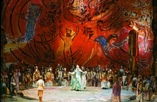 Marc Chagall, The Magic Flute, February 1967, Metropolitan Opera, New York, © 2017 Artists Rights Society (ARS), New York/ADAGP, Paris, photo: Frank Dunand/Metropolitan Opera Archives