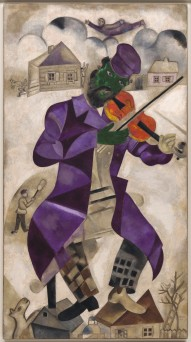Marc Chagall, Green Violinist, 1923–24, oil on canvas, Solomon R. Guggenheim Museum, New York, Founding Collection, by gift, © 2017 Artists Rights Society (ARS), New York/ADAGP, Paris, photo © 2017 The Solomon R. Guggenheim Foundation/Art Resource, NY