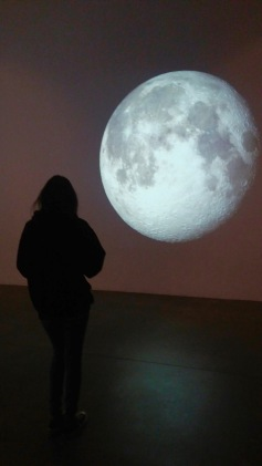 Eclipse Installation View with NASA projections Photo Credit Larry Gipe