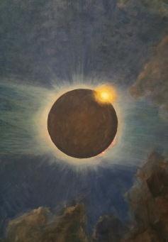 """Howard Russell Butler """"California Solar Eclipse,"""" (detail) 1923. Oil on canvas Photo Credit Larry Gipe"""
