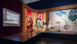 Installation photograph, Chagall: Fantasies for the Stage, from Aleko, Los Angeles County Museum of Art, July 31, 2017–January 7, 2018, © 2017 Artists Rights Society (ARS), New York / ADAGP, Paris, photo © Fredrik Nilsen.