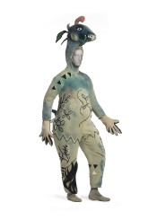 Marc Chagall, Costume for The Firebird: Monster with Donkey's Head, 1945, wool/synthetic knit, painted, with polyurethane and wool/synthetic knit appliqués, New York City Ballet, New York, © 2017 Artists Rights Society (ARS), New York/ADAGP, Paris, photo © 2017 Museum Associates/LACMA