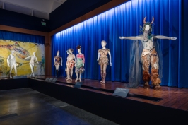 Installation photograph, Chagall: Fantasies for the Stage, from Daphnis and Chloe, Los Angeles County Museum of Art, July 31, 2017–January 7, 2018, © 2017 Artists Rights Society (ARS), New York / ADAGP, Paris, photo © Fredrik Nilsen.
