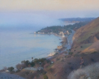 "Corral Canyon (Fog Bank), 2017 oil on canvas 22 x 27.5"". Ann Lofquist. Photo Courtesy of Craig Krull Gallery."