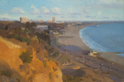 """Palisades South II, 2016 oil on panel 8.5 x 13"""". Ann Lofquist. Photo Courtesy of Craig Krull Gallery."""